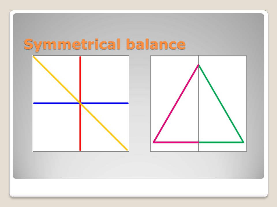 Symmetrical Balance The Rectangle Has Three Lines Of Symmetry Horizontal Blue Vertical