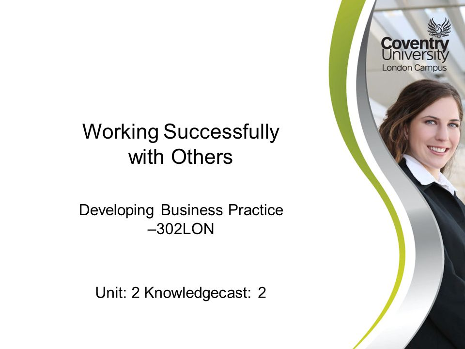 Working Successfully with Others