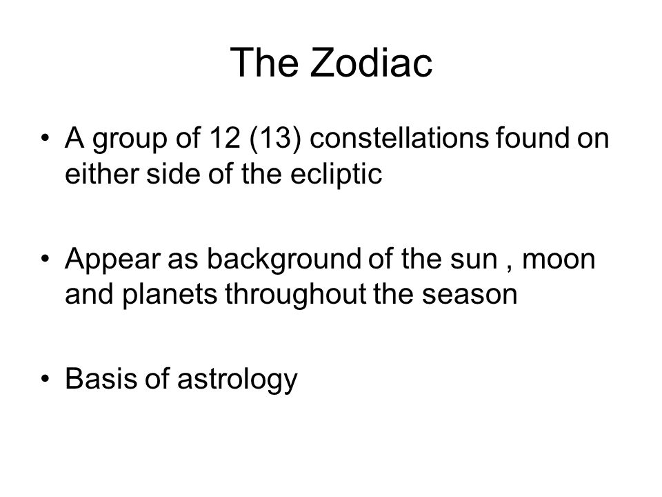 Zodiac Constellations - ppt download