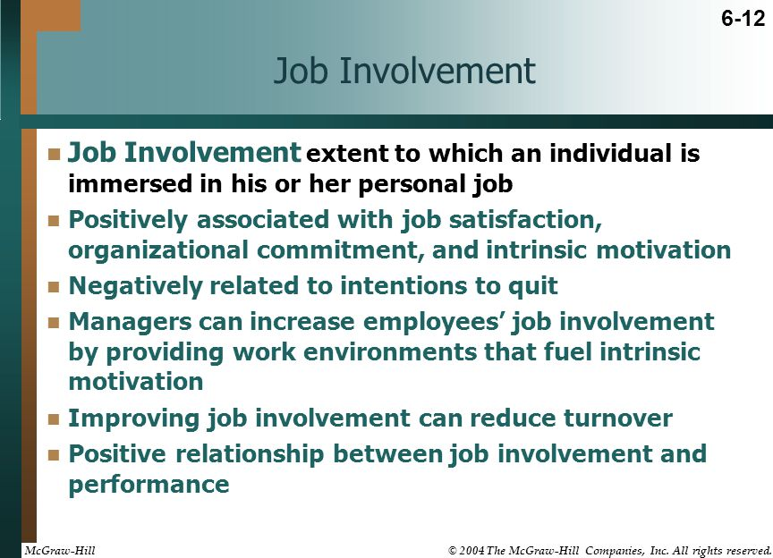 relationship between organizational commitment and job performance