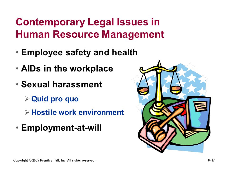 Contemporary Legal Issues in Human Resource Management
