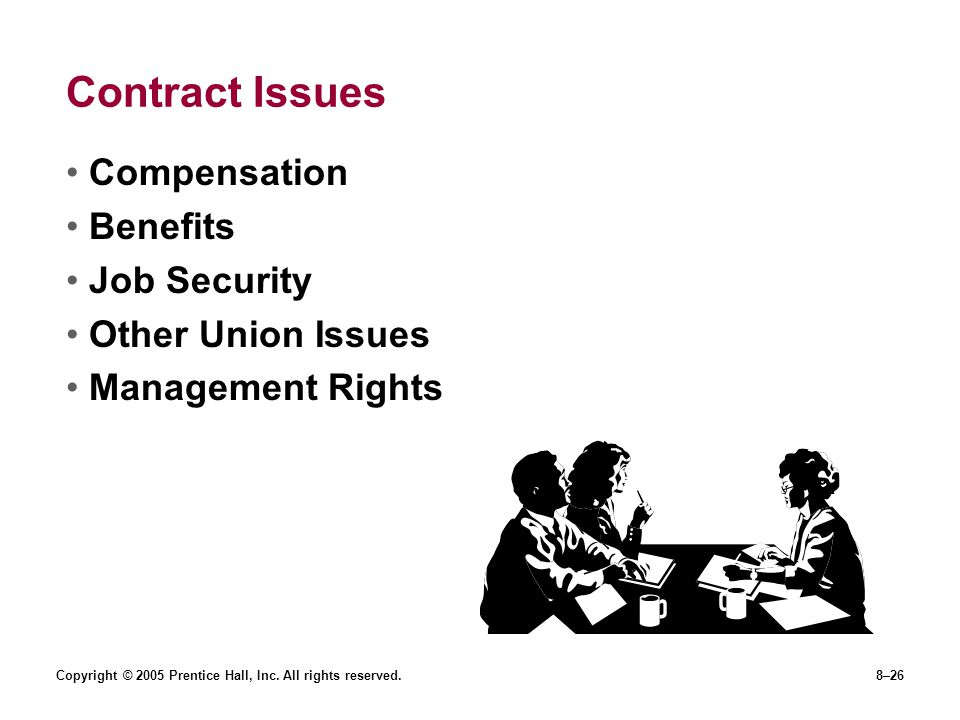 Contract Issues Compensation Benefits Job Security Other Union Issues