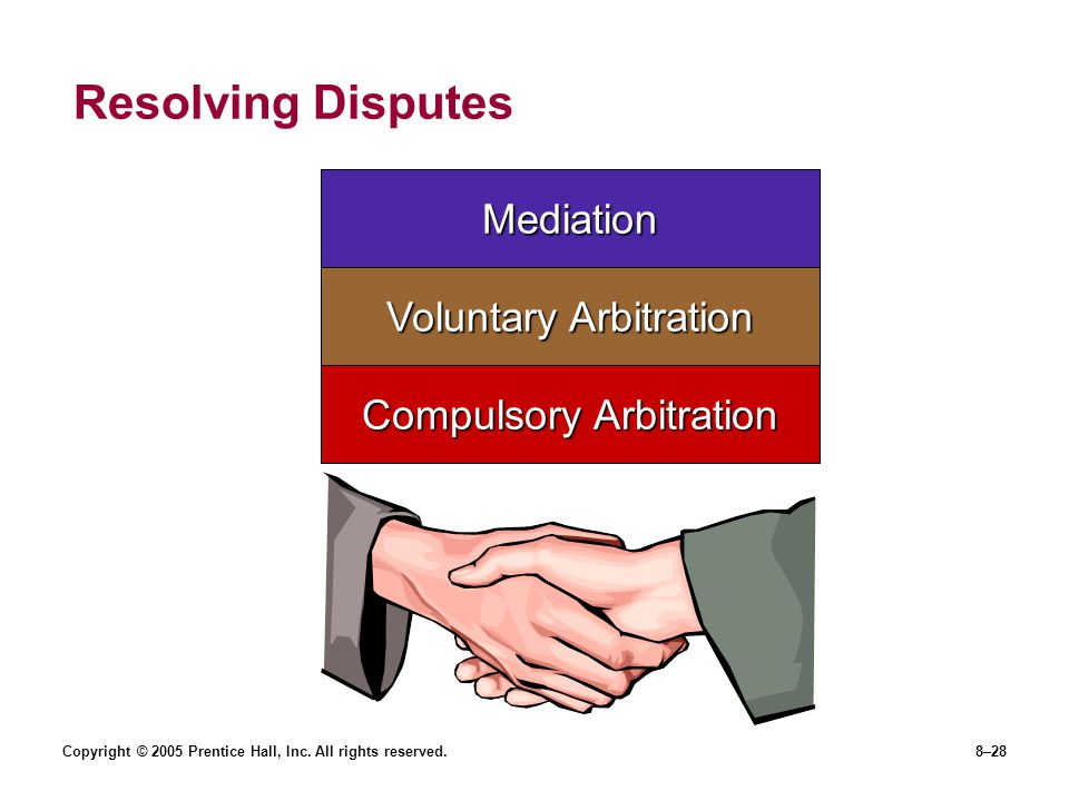Resolving Disputes Mediation Voluntary Arbitration