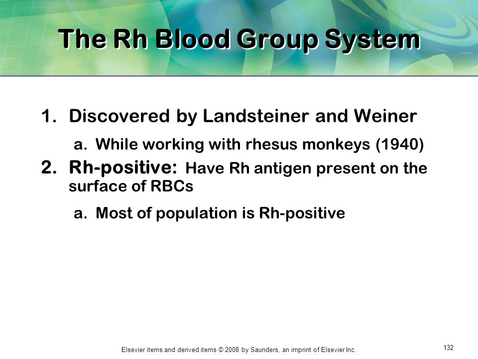 The Rh Blood Group System