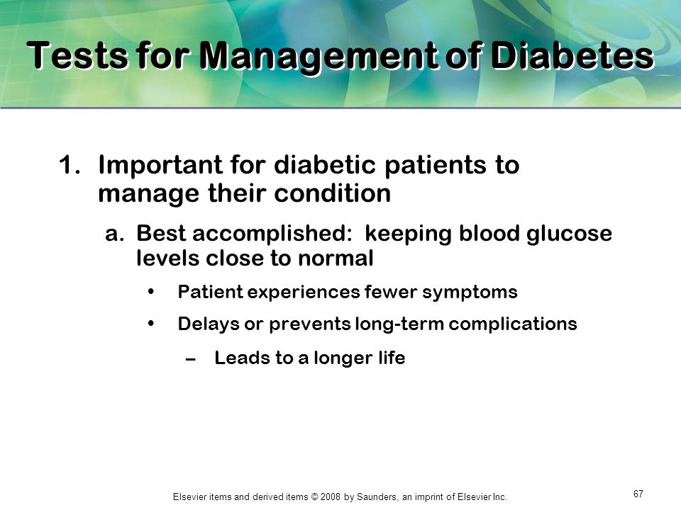 Tests for Management of Diabetes