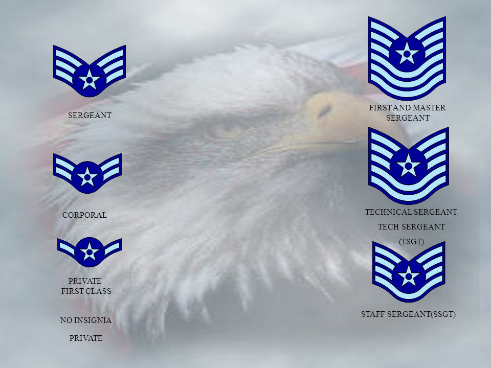 HISTORY OF AIR FORCE RANK BOTH OFFICER AND ENLISTED