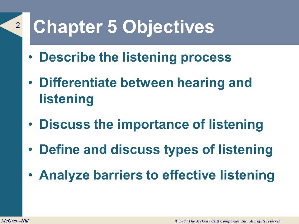 types of listening process