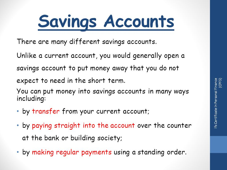 topic 4 understand different types of bank account ppt download