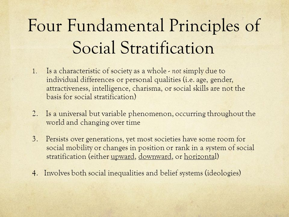 4 systems of social stratification