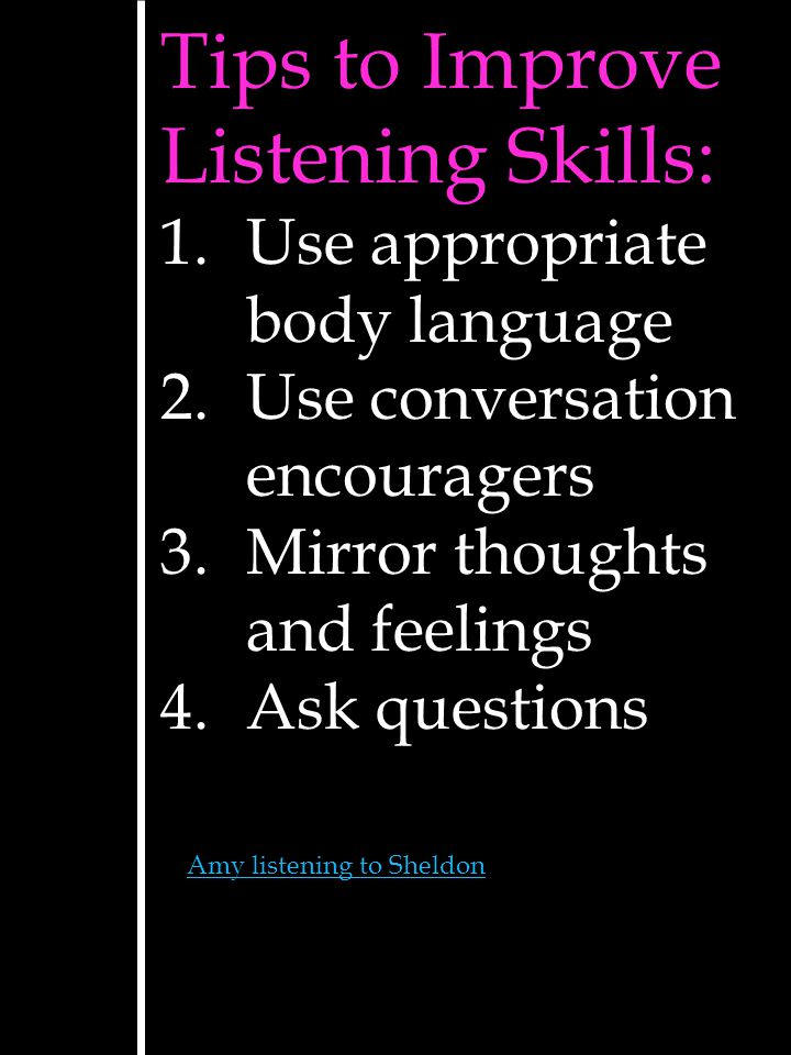 Tips to Improve Listening Skills: