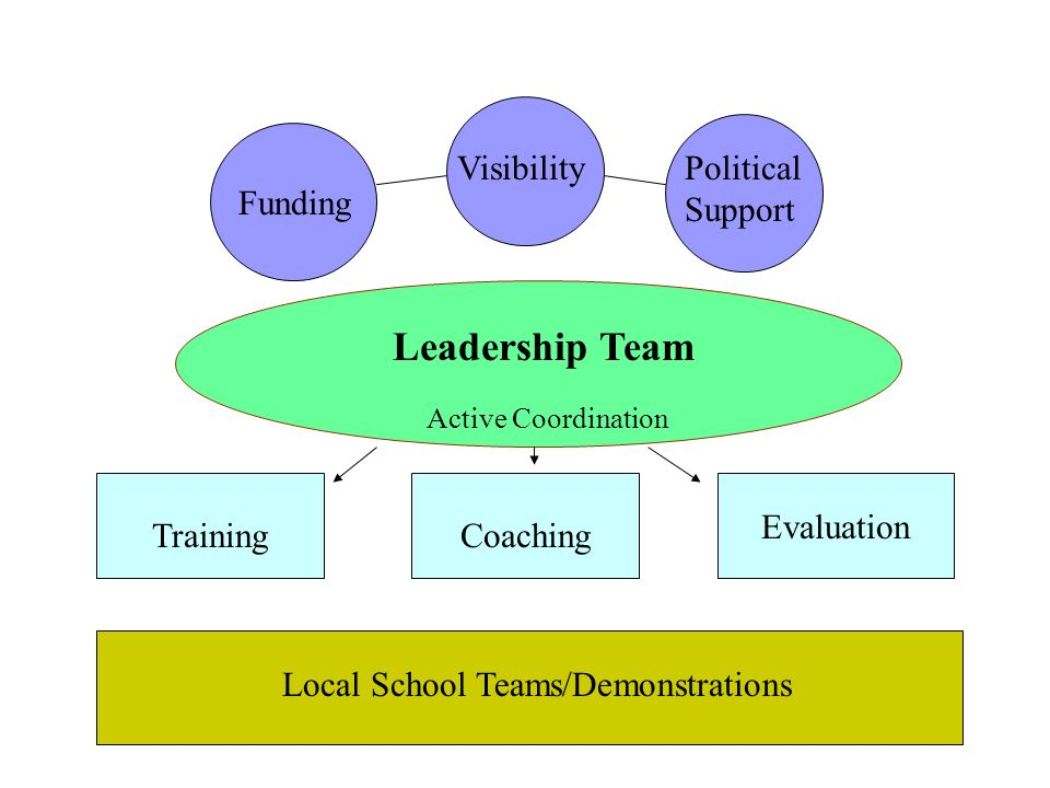 Leadership Team Visibility Political Support Funding Evaluation