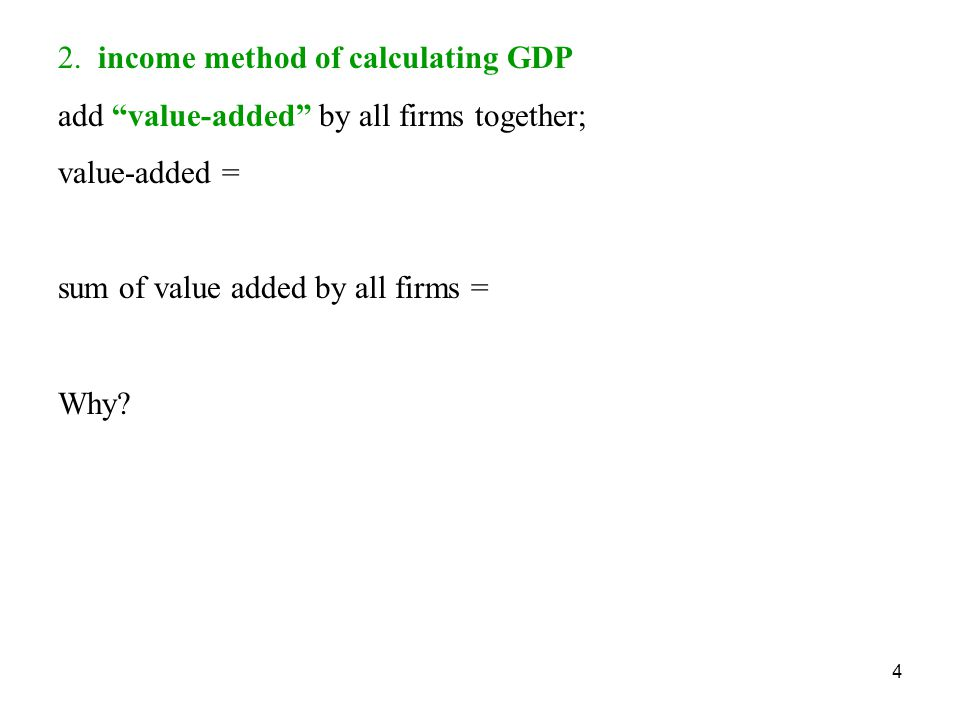 2. income method of calculating GDP