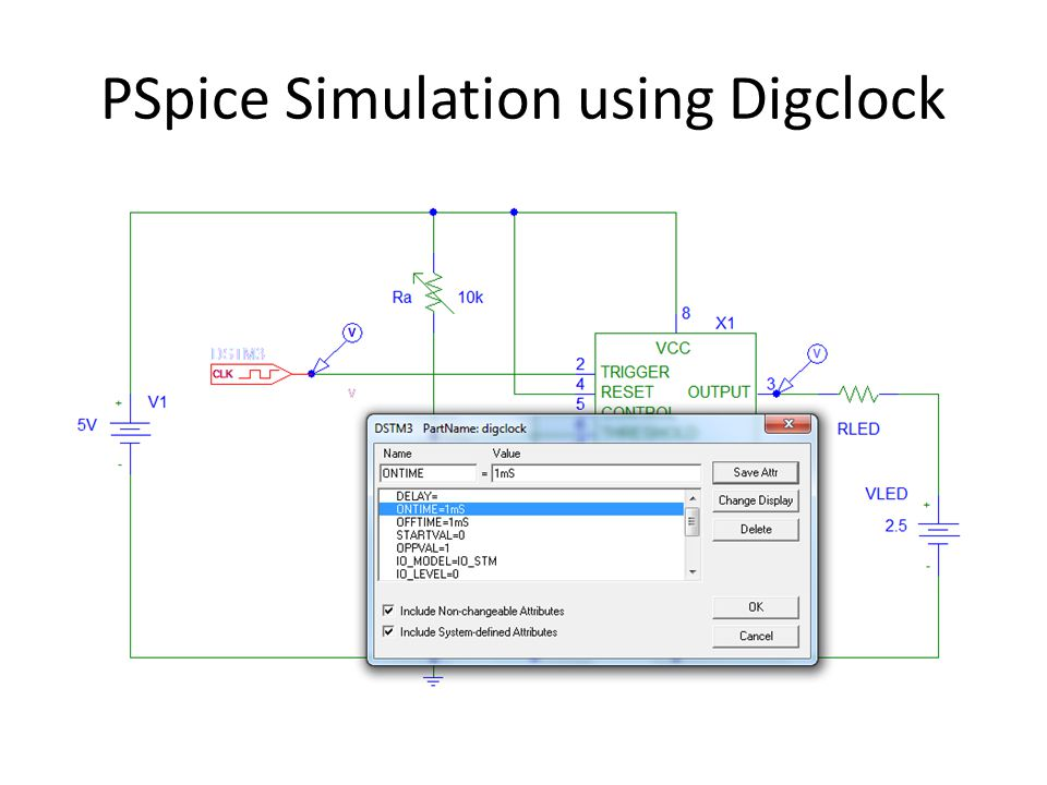 PSpice Simulation using Digclock
