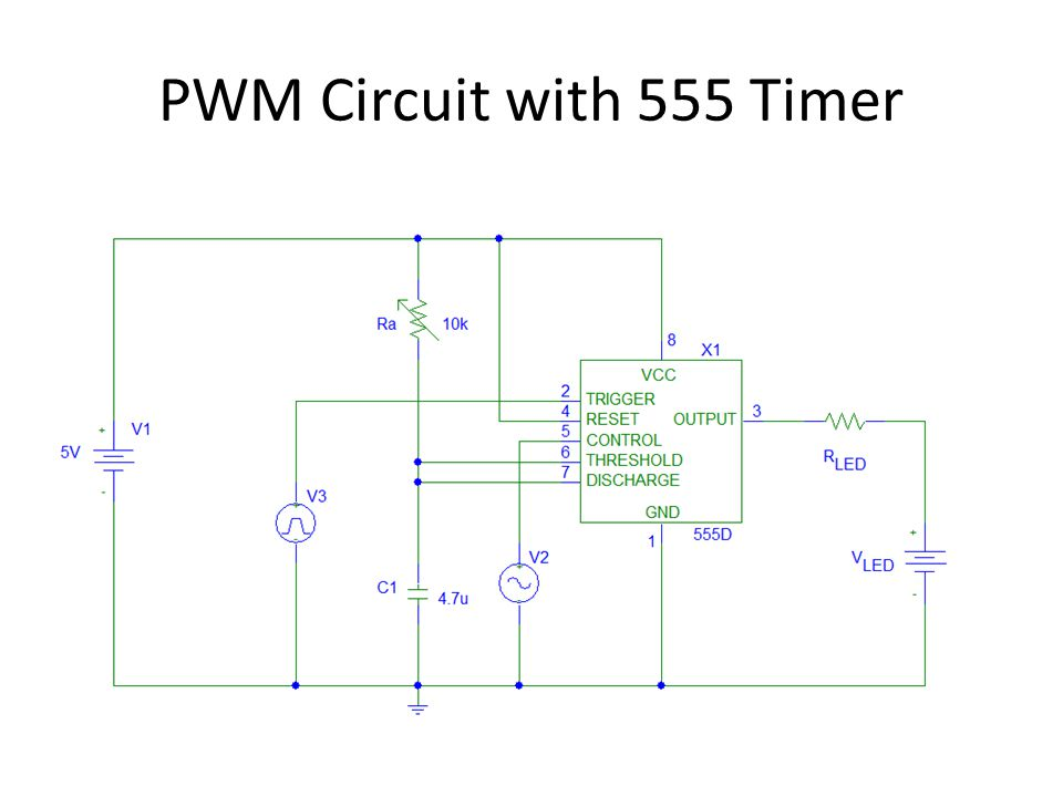 PWM Circuit with 555 Timer