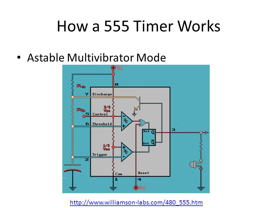 How a 555 Timer Works Astable Multivibrator Mode