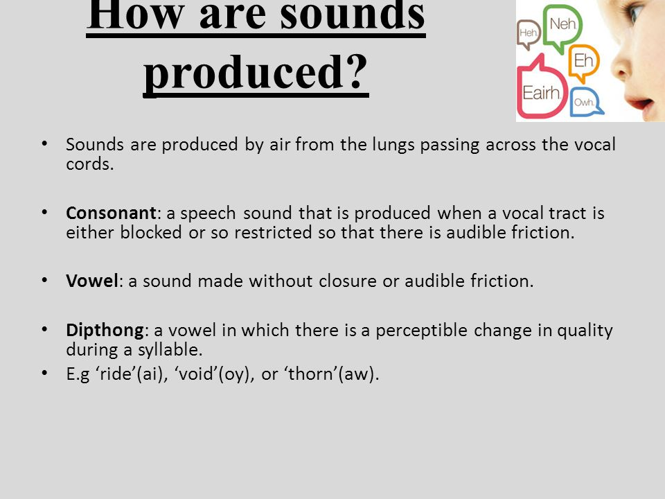 how vowel sounds are produced