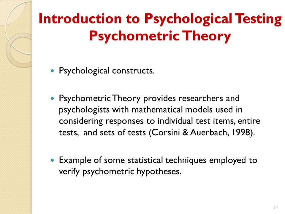 introduction to psychometric theory pdf