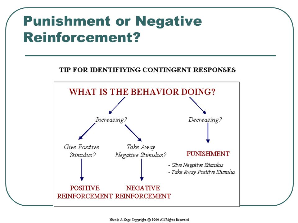 Punishment or Negative Reinforcement