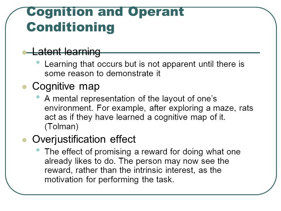 Cognition and Operant Conditioning