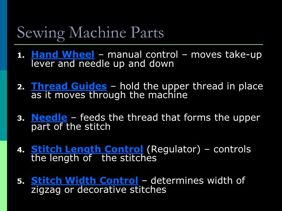 Sewing Notes Th Grade Ppt Video Online Download Interesting Handwheel Sewing Machine Definition