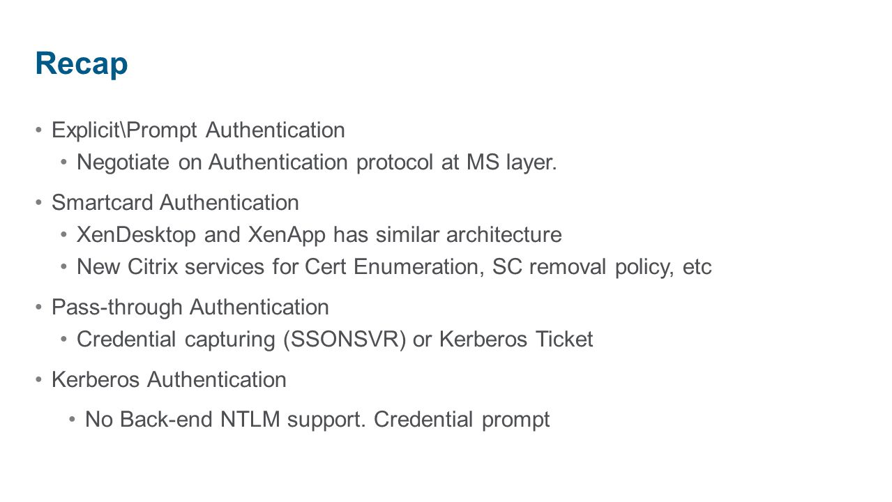 Authentication on XenApp & XenDesktop - ppt download