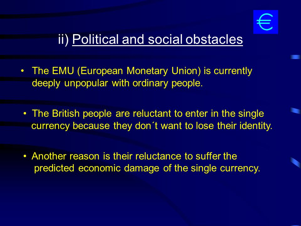 ii) Political and social obstacles