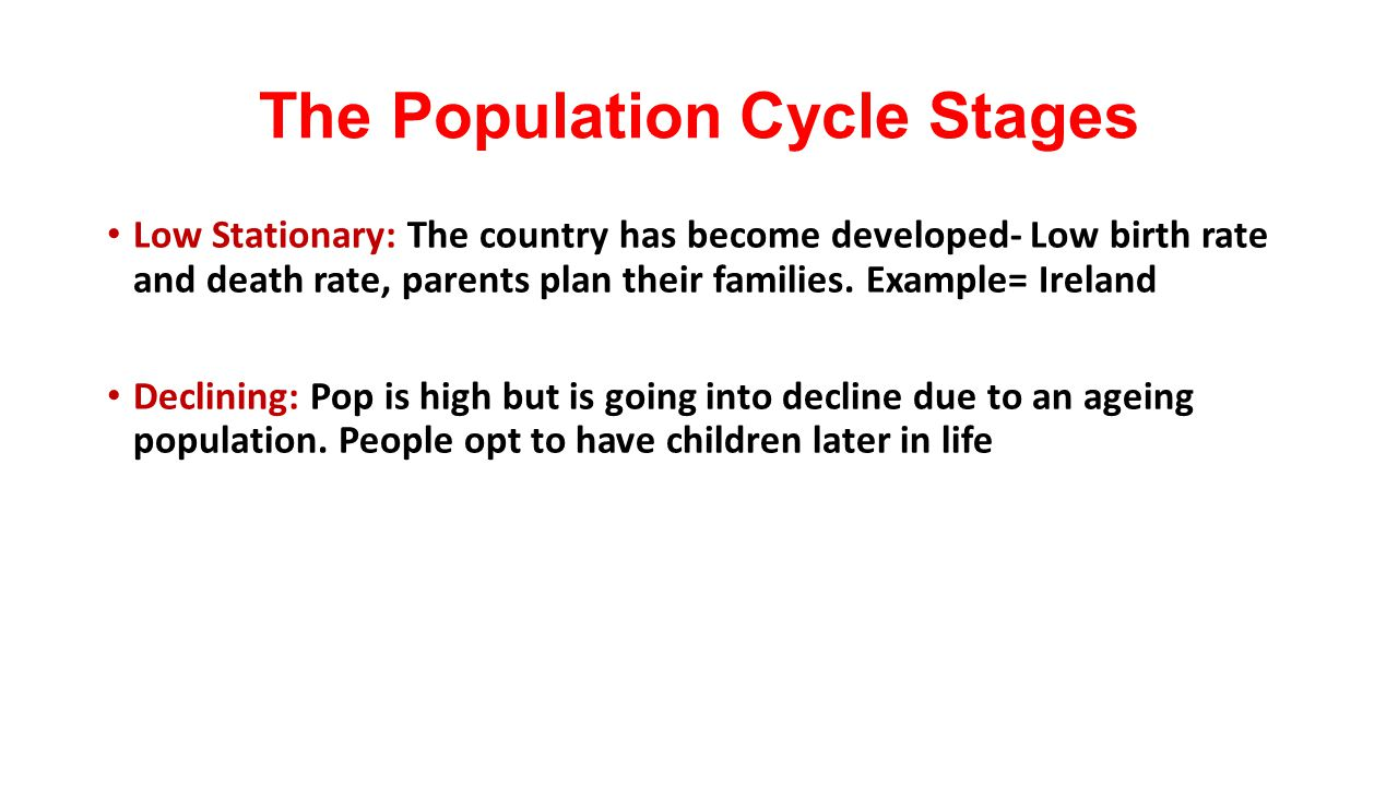 The Population Cycle Stages