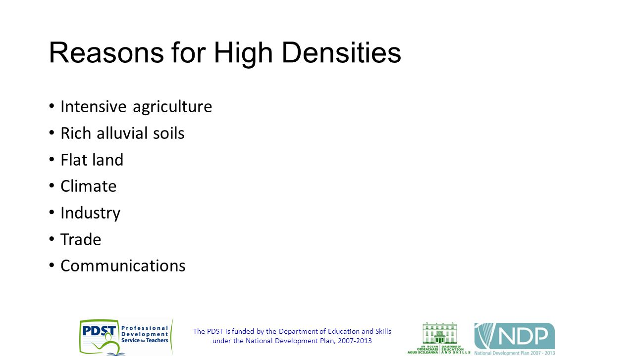 Reasons for High Densities