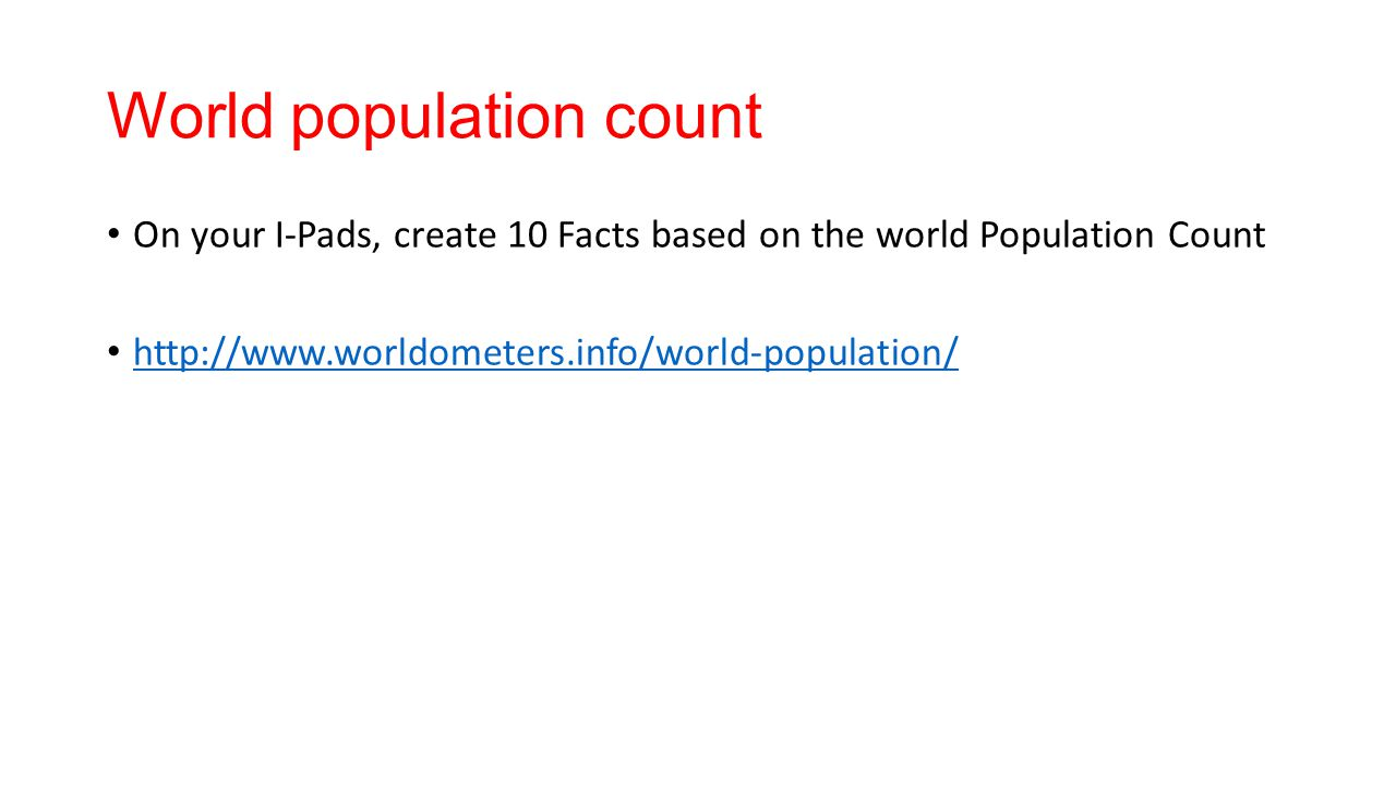 World population count