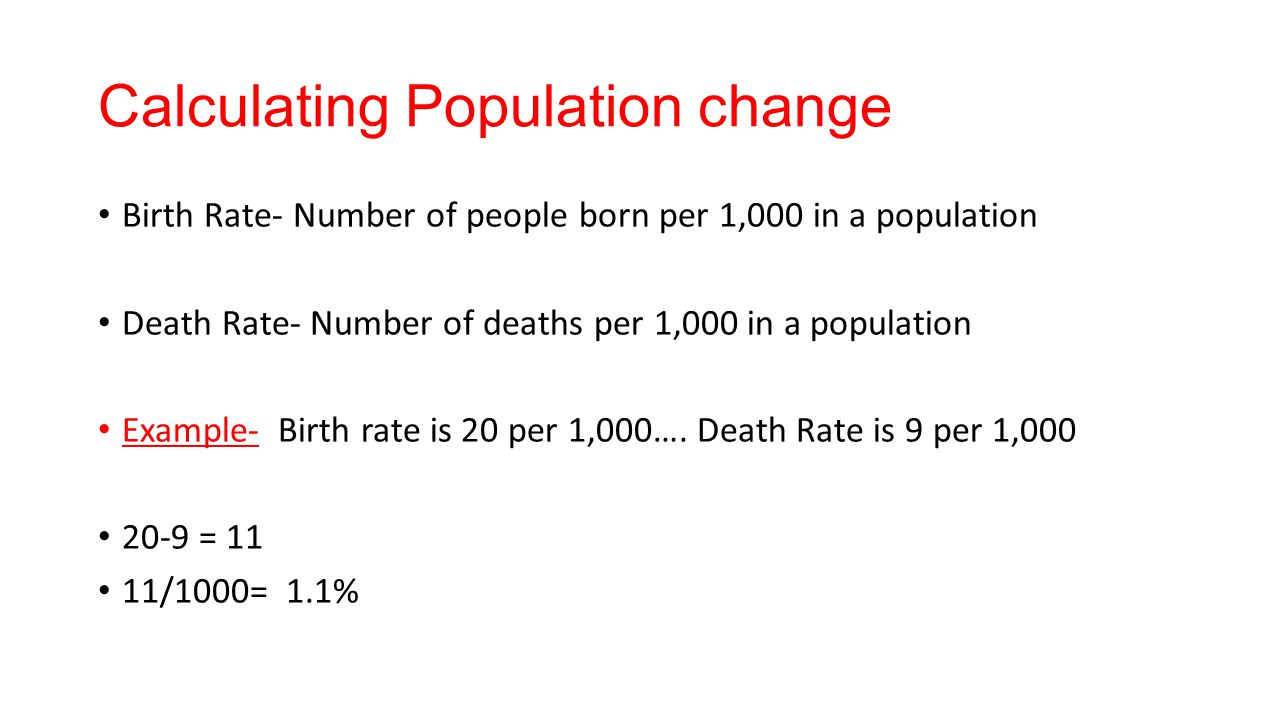 Calculating Population change