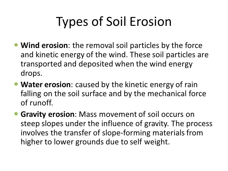 What Is Soil Erosion 6 Types