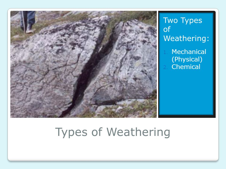 Types of Weathering Two Types of Weathering: Mechanical (Physical)