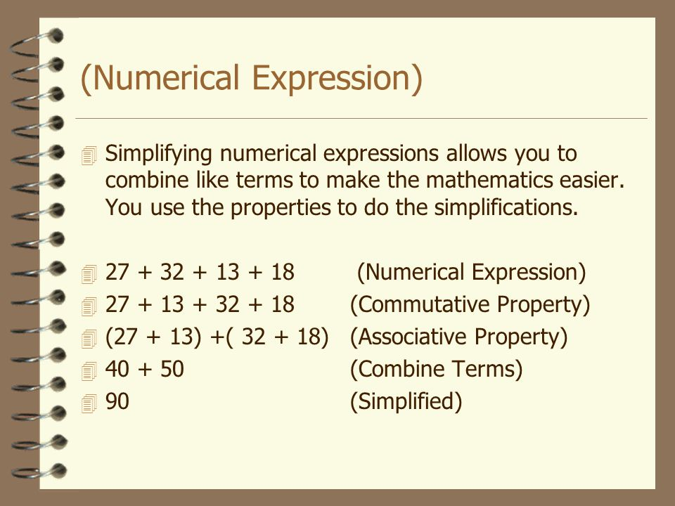 (Numerical Expression)