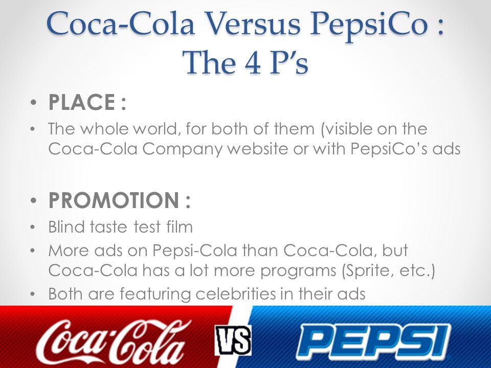 4 p of marketing mix of pepsi