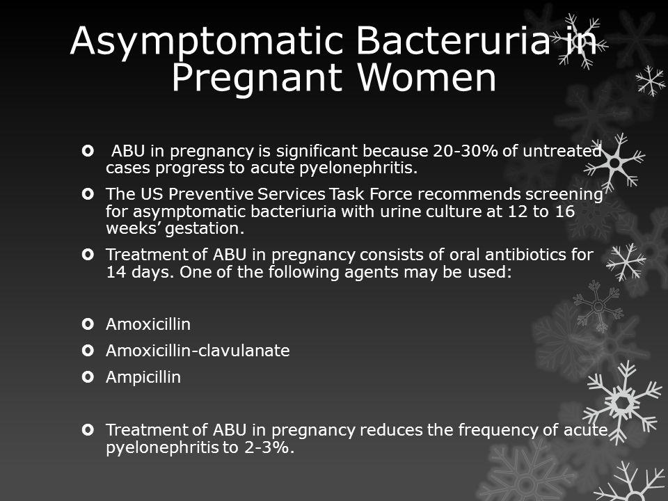 asymptomatic bacteriuria in pregnancy pdf