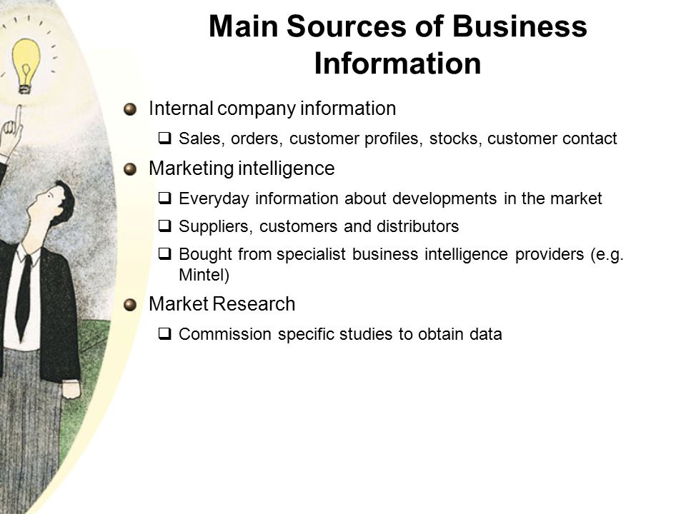 Main Sources of Business Information