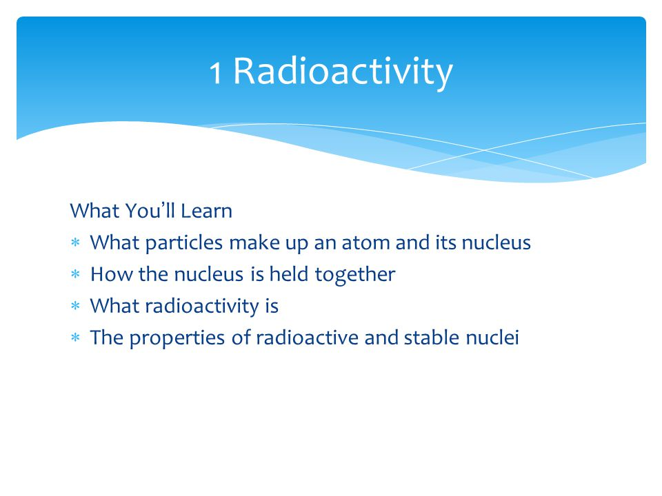 Radioactive dating sentence