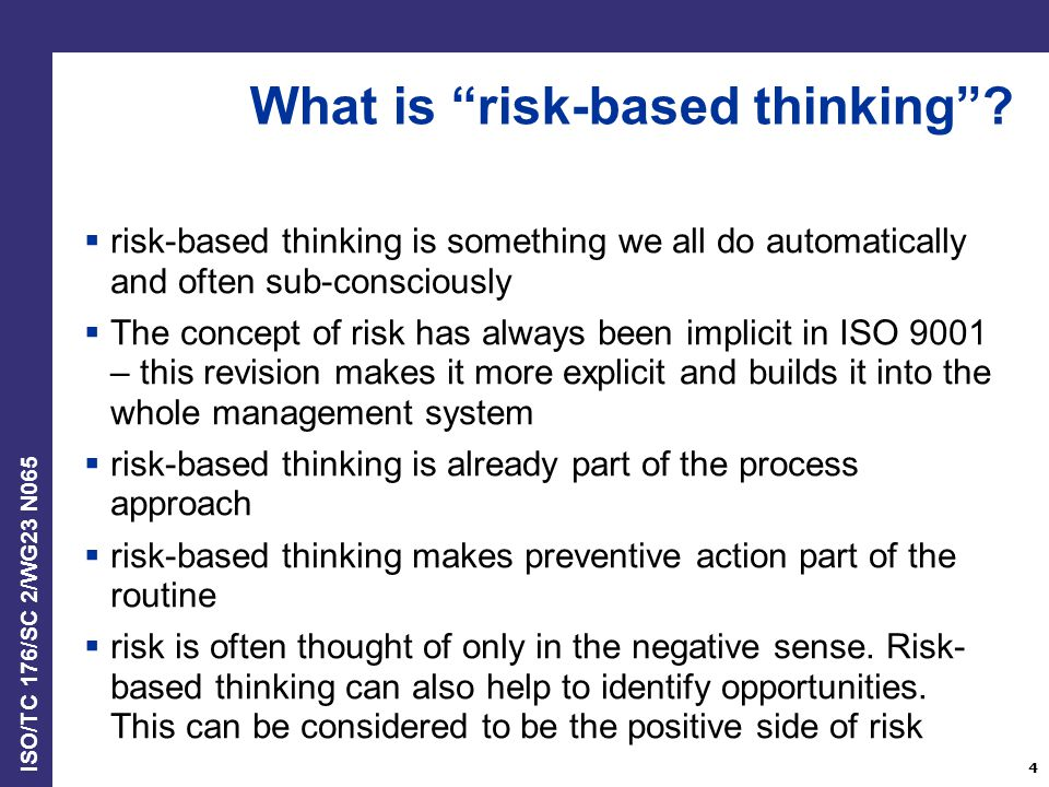 What is risk-based thinking
