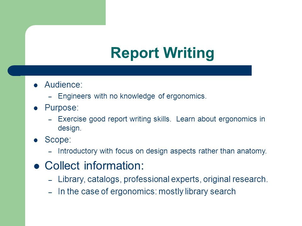 report writing topics