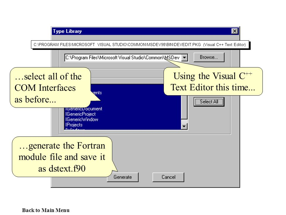 …generate the Fortran module file and save it as dstext.f90
