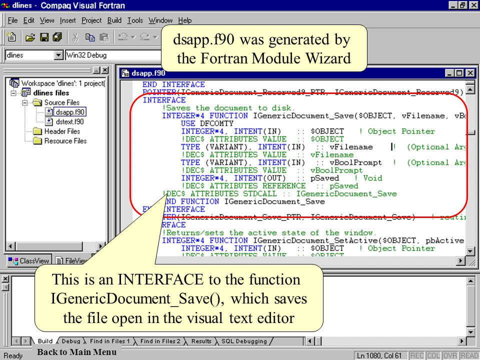 dsapp.f90 was generated by the Fortran Module Wizard