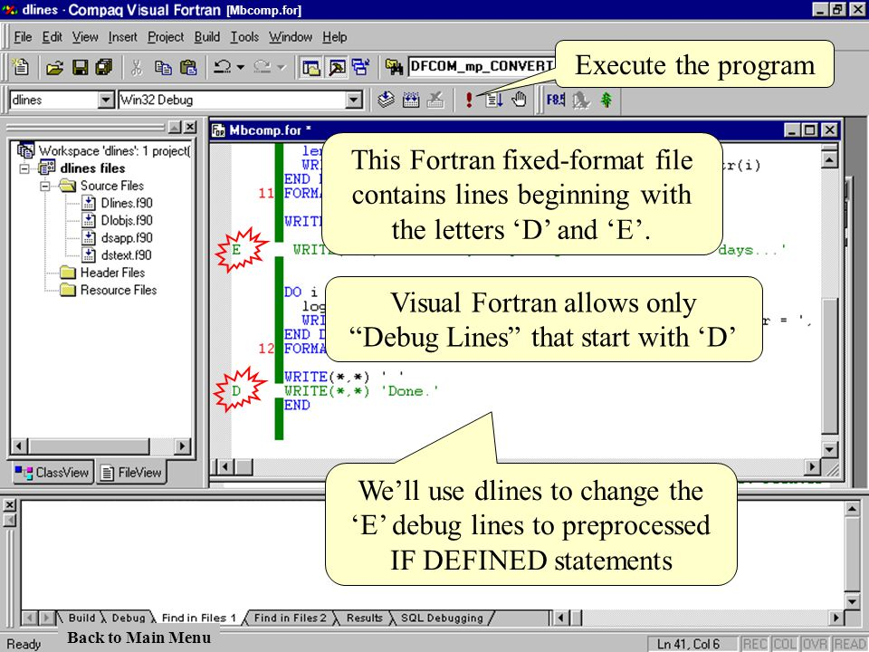 This Fortran fixed-format file contains lines beginning with