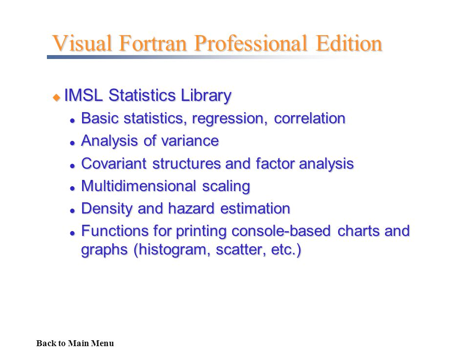 Visual Fortran Professional Edition