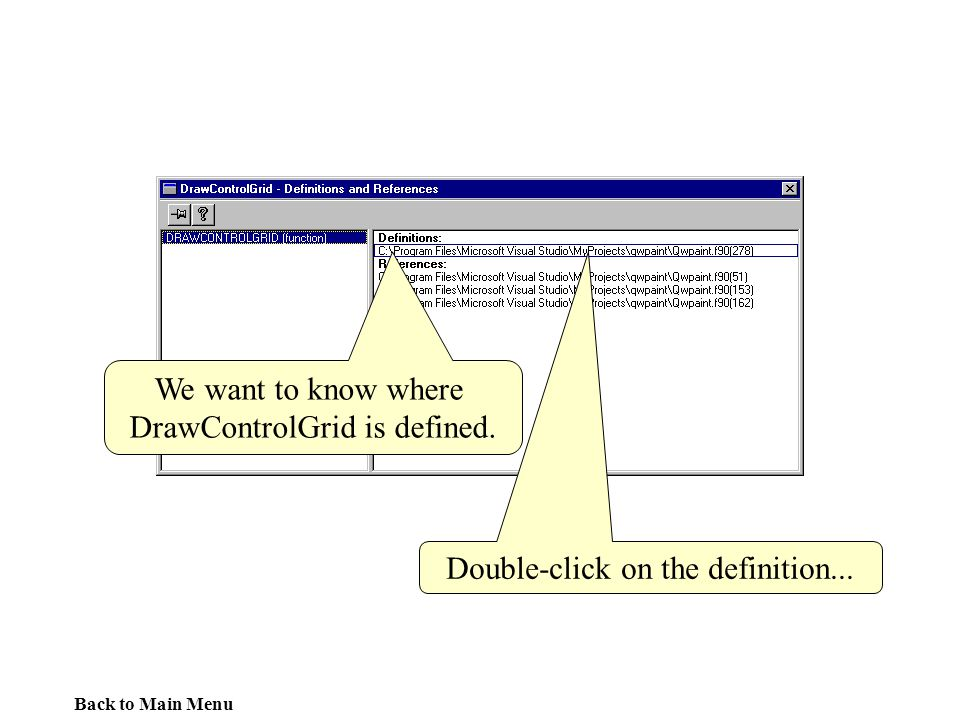 DrawControlGrid is defined.