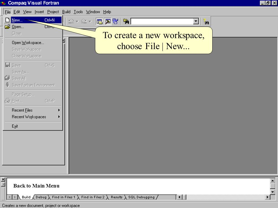 To create a new workspace,