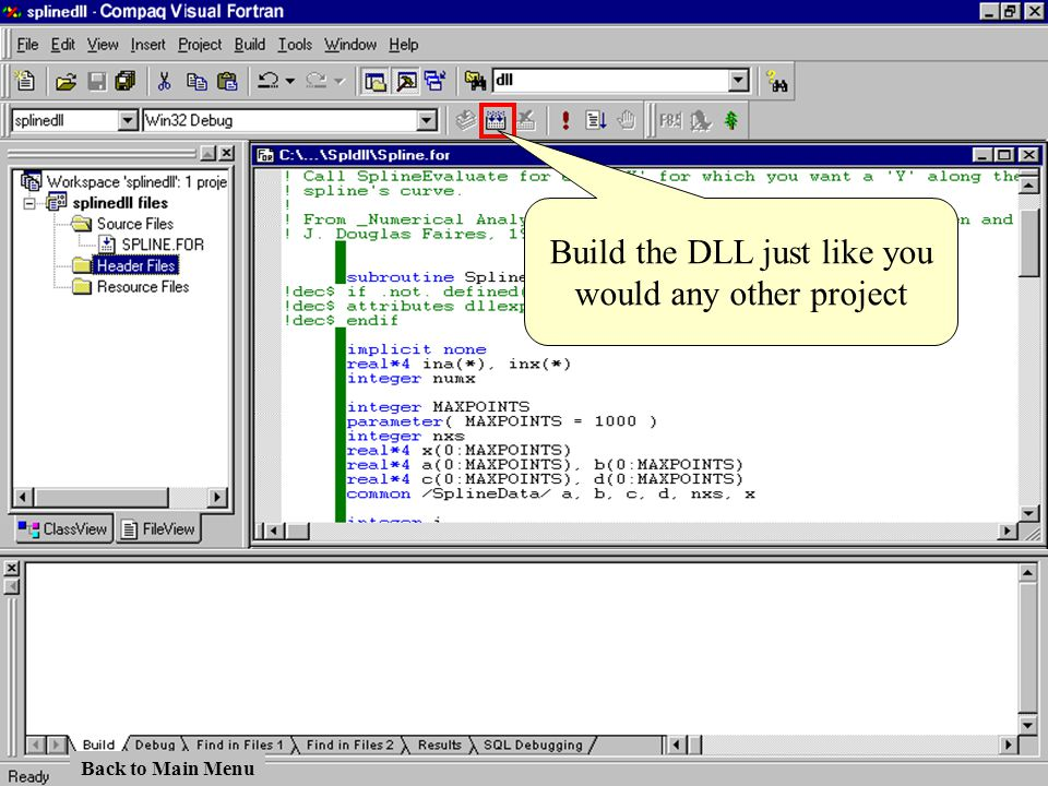Build the DLL just like you would any other project