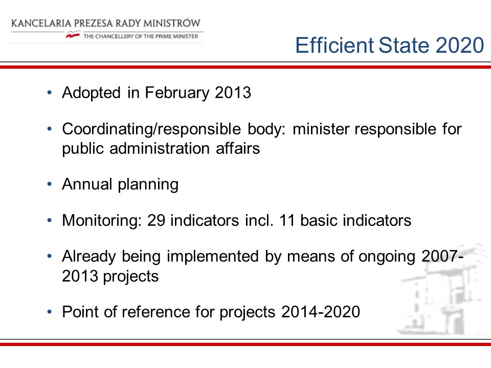 Efficient State 2020 Adopted in February 2013