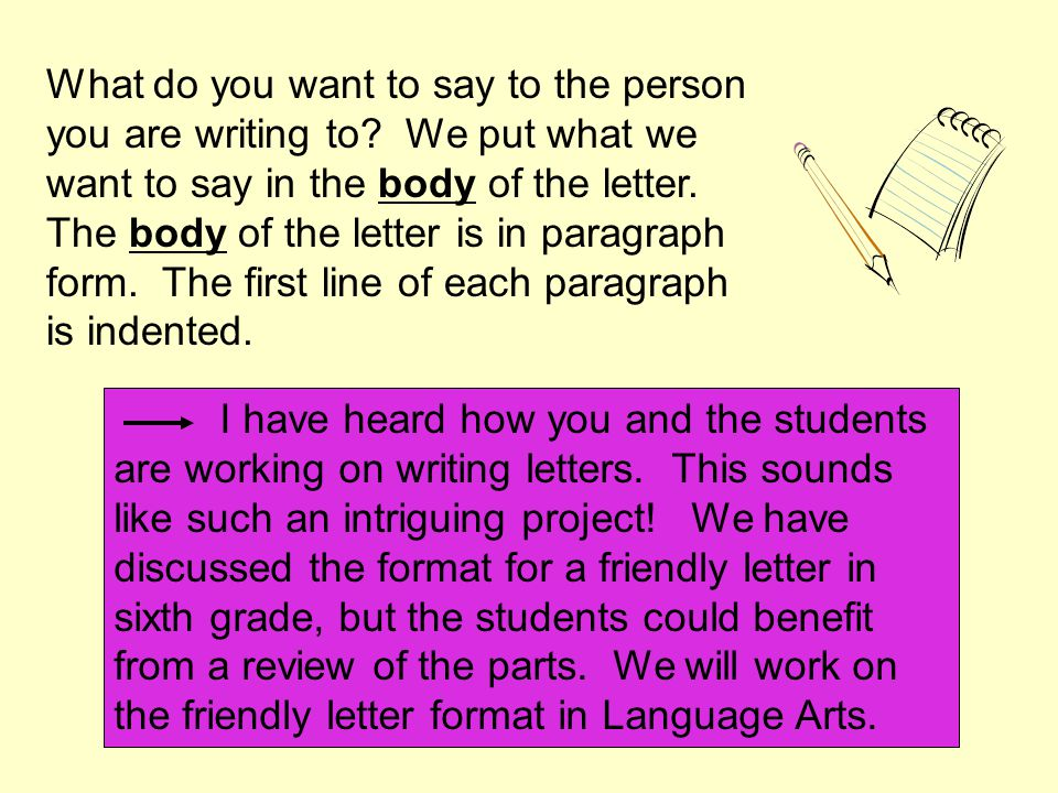 How Do I Write A Friendly Letter Ppt Video Online Download