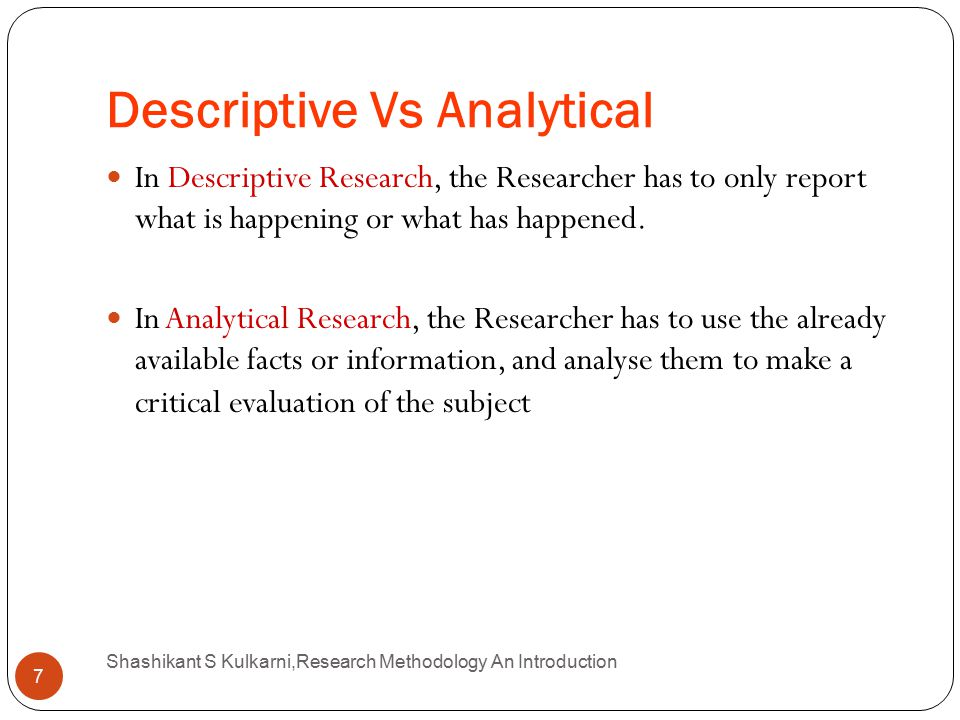 analytical research methodology