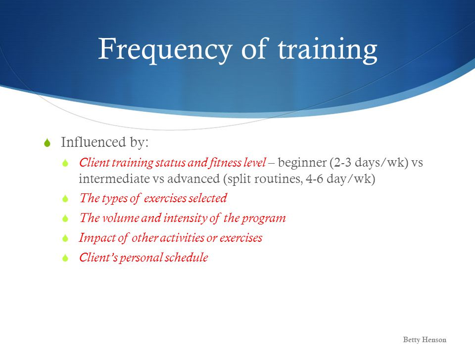 Exercise Programming for Neuromuscular Fitness - ppt download